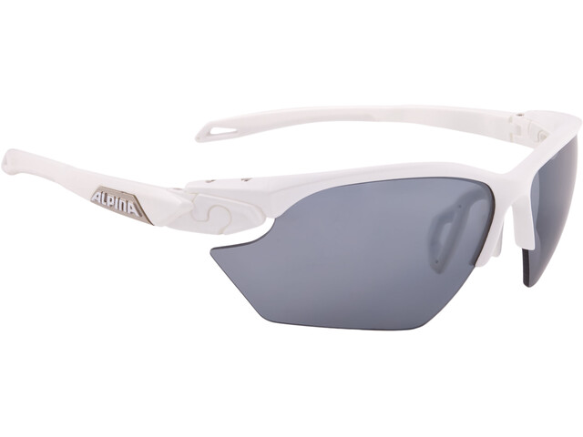 Alpina Twist Five HR S CM+ Glasses white matt-silver